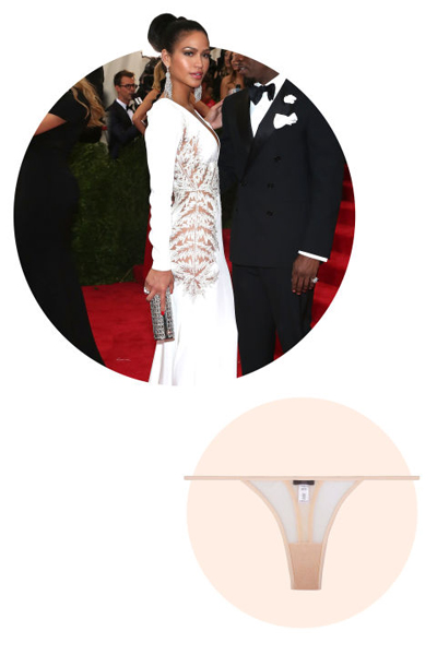 P.Diddy's main squeeze wore a subtly sheer dress, but the skin is there all the same. Cassie is more than likely rocking a barely there and flesh-colored thong.